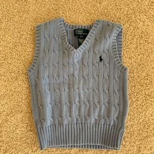 Toddler Boys Polo Cable Knit Sweater Vest. Size 2T